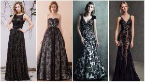 Vestidos de Casamento de Renda Preta