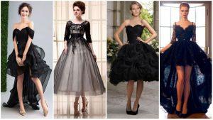 Vestidos de Casamento Preto Curto