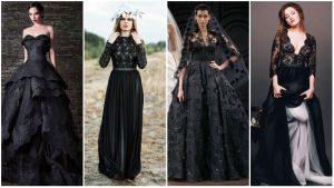 Vestidos de casamento gótico preto
