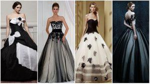 Vestidos de casamento preto e branco