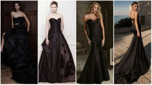 Vestidos de casamento preto longo