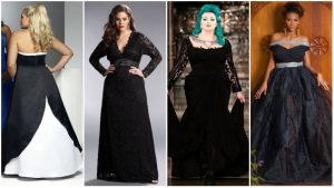Vestidos de noiva preto tamanho grande